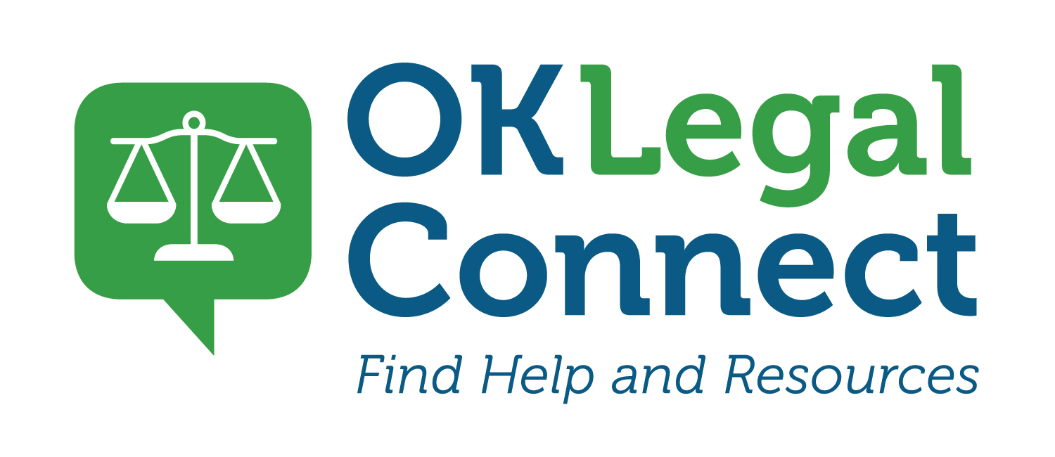 OKLegalConnect logo, Find Help and Resources